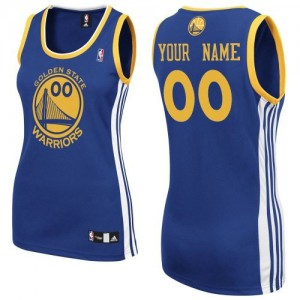 Maillot NBA Authentic Personnalisé Golden State Warriors Road Bleu royal - Femme