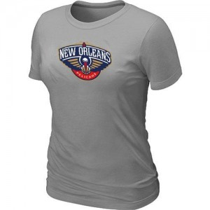 New Orleans Pelicans Big & Tall Tee-Shirt d'équipe de NBA - Gris pour Femme