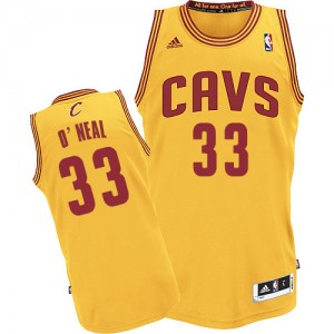 Maillot Adidas Or Alternate Swingman Cleveland Cavaliers - Shaquille O'Neal #33 - Homme