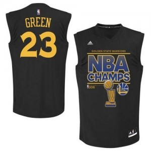 Maillot NBA Authentic Draymond Green #23 Golden State Warriors 2015 Finals Champions Noir - Homme