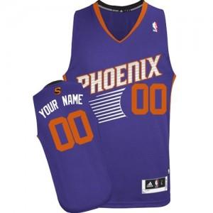 Phoenix Suns Authentic Personnalisé Road Maillot d'équipe de NBA - Violet pour Homme