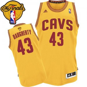 Maillot NBA Authentic Brad Daugherty #43 Cleveland Cavaliers Alternate 2015 The Finals Patch Or - Homme
