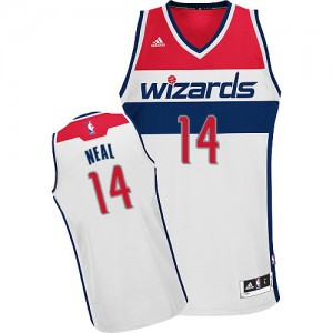 Maillot Adidas Blanc Home Swingman Washington Wizards - Gary Neal #14 - Homme