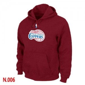 Pullover Sweat à capuche Los Angeles Clippers NBA Rouge - Homme