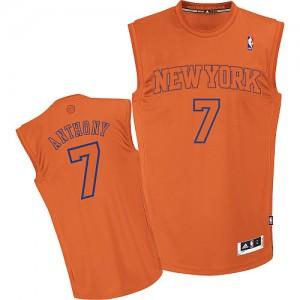 New York Knicks Carmelo Anthony #7 Big Color Fashion Authentic Maillot d'équipe de NBA - Orange pour Homme