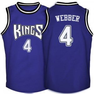 Maillot NBA Authentic Chris Webber #4 Sacramento Kings Throwback Violet - Homme