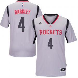Houston Rockets #4 Adidas Alternate Gris Swingman Maillot d'équipe de NBA Expédition rapide - Charles Barkley pour Homme