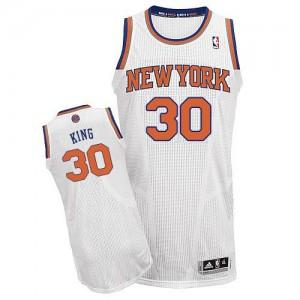 Maillot NBA Blanc Bernard King #30 New York Knicks Home Authentic Homme Adidas