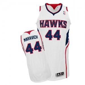 Maillot NBA Atlanta Hawks #44 Pete Maravich Blanc Adidas Authentic Home - Homme