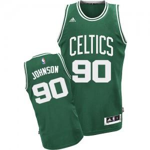 Boston Celtics #90 Adidas Road Vert (No Blanc) Swingman Maillot d'équipe de NBA 100% authentique - Amir Johnson pour Homme