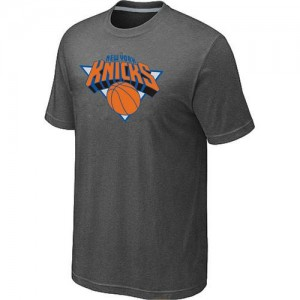 New York Knicks Big & Tall Gris foncé Tee-Shirt d'équipe de NBA Prix d'usine - pour Homme