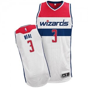 Washington Wizards Bradley Beal #3 Home Authentic Maillot d'équipe de NBA - Blanc pour Homme