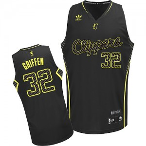 Maillot NBA Noir Blake Griffin #32 Los Angeles Clippers Electricity Fashion Swingman Homme Adidas