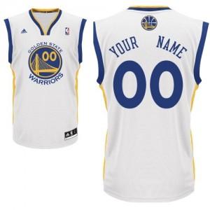 Maillot Golden State Warriors NBA Home Blanc - Personnalisé Swingman - Enfants