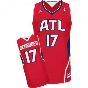 Maillot NBA Swingman Dennis Schroder #17 Atlanta Hawks Alternate Rouge - Homme