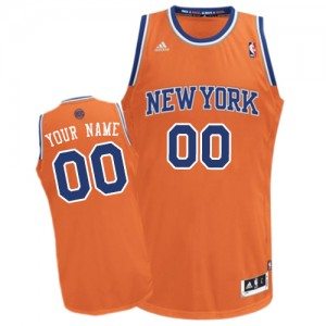 Maillot New York Knicks NBA Alternate Orange - Personnalisé Swingman - Femme