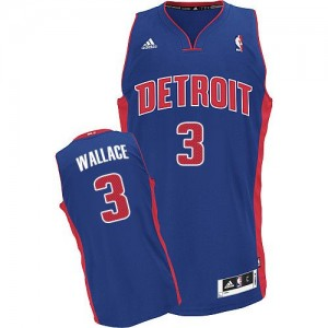 Maillot Swingman Detroit Pistons NBA Road Bleu royal - #3 Ben Wallace - Homme