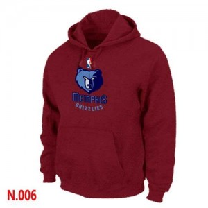 Sweat à capuche NBA Rouge Memphis Grizzlies Homme