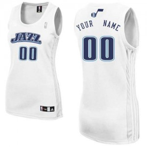 Maillot NBA Authentic Personnalisé Utah Jazz Home Blanc - Femme