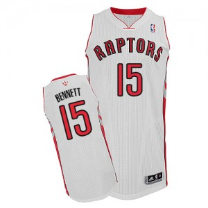 Toronto Raptors Anthony Bennett #15 Home Authentic Maillot d'équipe de NBA - Blanc pour Homme