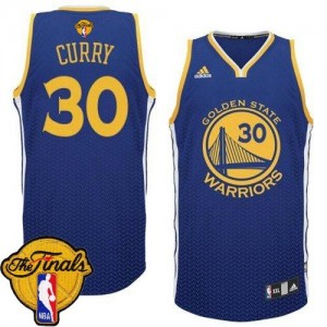 Golden State Warriors #30 Adidas Resonate Fashion 2015 The Finals Patch Bleu Swingman Maillot d'équipe de NBA préférentiel - Stephen Curry pour Homme