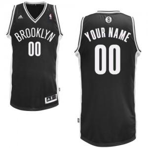 Brooklyn Nets Swingman Personnalisé Road Maillot d'équipe de NBA - Noir pour Enfants