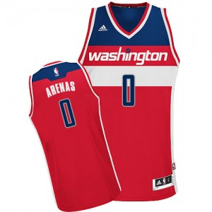 Maillot NBA Washington Wizards #0 Gilbert Arenas Rouge Adidas Swingman Road - Homme