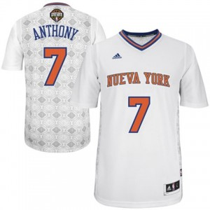 Maillot NBA Authentic Carmelo Anthony #7 New York Knicks New Latin Nights Blanc - Homme