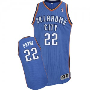 Oklahoma City Thunder Cameron Payne #22 Road Authentic Maillot d'équipe de NBA - Bleu royal pour Homme