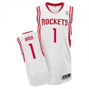 Maillot Adidas Blanc Home Authentic Houston Rockets - Trevor Ariza #1 - Homme