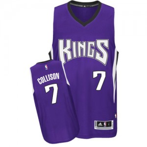 Maillot NBA Sacramento Kings #7 Darren Collison Violet Adidas Authentic Road - Homme