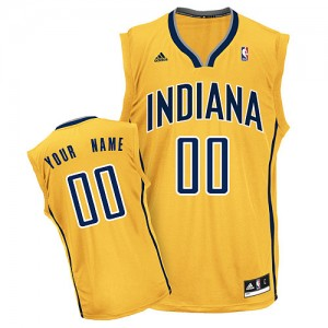 Indiana Pacers Swingman Personnalisé Alternate Maillot d'équipe de NBA - Or pour Femme