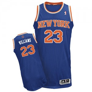 Maillot Authentic New York Knicks NBA Road Bleu royal - #23 Derrick Williams - Homme