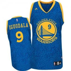 Maillot NBA Golden State Warriors #9 Andre Iguodala Bleu Adidas Authentic Crazy Light - Homme