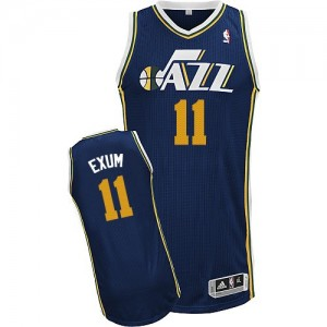 Maillot Authentic Utah Jazz NBA Road Bleu marin - #11 Dante Exum - Homme