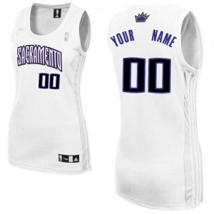 Maillot NBA Sacramento Kings Personnalisé Authentic Blanc Adidas Home - Femme