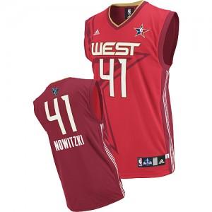 Maillot NBA Rouge Dirk Nowitzki #41 Dallas Mavericks 2010 All Star Swingman Homme Adidas