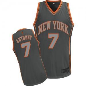 New York Knicks #7 Adidas Graystone Fashion Gris Authentic Maillot d'équipe de NBA en ligne pas chers - Carmelo Anthony pour Homme