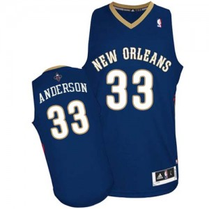 Maillot NBA Bleu marin Ryan Anderson #33 New Orleans Pelicans Road Authentic Homme Adidas