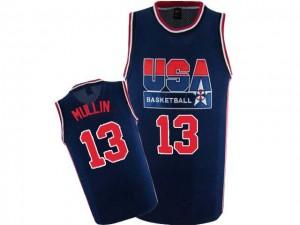 Maillot NBA Team USA #13 Chris Mullin Bleu marin Nike Swingman 2012 Olympic Retro - Homme