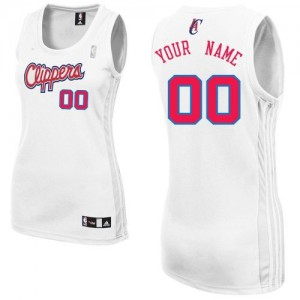 Maillot NBA Blanc Authentic Personnalisé Los Angeles Clippers Home Femme Adidas