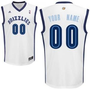 Memphis Grizzlies Personnalisé Adidas Home Blanc Maillot d'équipe de NBA pas cher - Swingman pour Enfants