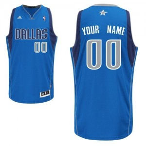 Maillot NBA Swingman Personnalisé Dallas Mavericks Road Bleu royal - Enfants