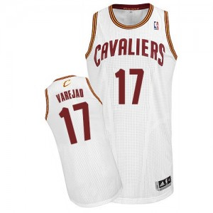 Maillot NBA Blanc Anderson Varejao #17 Cleveland Cavaliers Home Authentic Homme Adidas