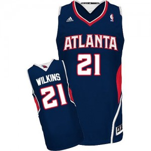 Maillot NBA Swingman Dominique Wilkins #21 Atlanta Hawks Road Bleu marin - Homme