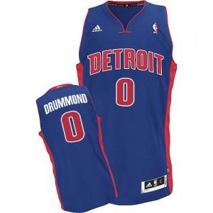 Detroit Pistons #0 Adidas Road Bleu royal Swingman Maillot d'équipe de NBA Vente pas cher - Andre Drummond pour Homme