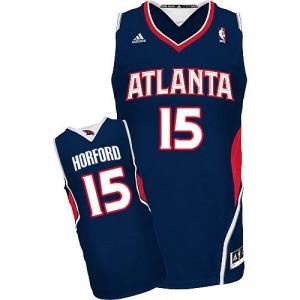 Maillot Adidas Bleu marin Road Swingman Atlanta Hawks - Al Horford #15 - Homme