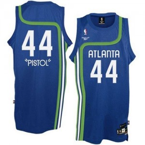 Maillot Adidas Bleu clair Pistol Authentic Atlanta Hawks - Pete Maravich #44 - Homme