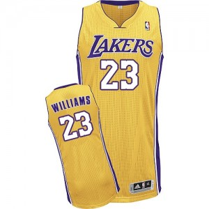 Maillot NBA Or Louis Williams #23 Los Angeles Lakers Home Authentic Homme Adidas