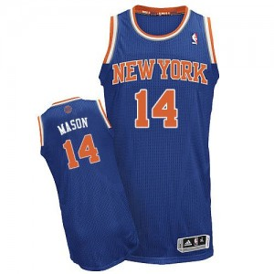 New York Knicks #14 Adidas Road Bleu royal Authentic Maillot d'équipe de NBA Vente pas cher - Anthony Mason pour Homme